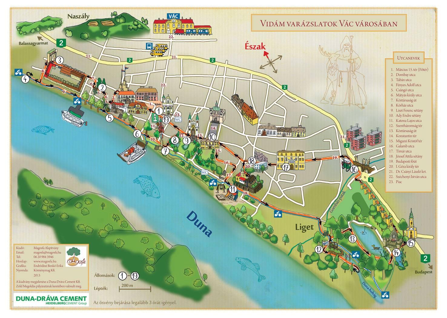 budapest vác térkép Magosfa Környezeti Nevelési és Ökoturisztikai Alapítvány  budapest vác térkép